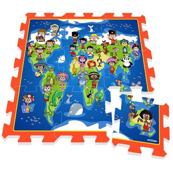 STAMP Tapis Puzzle bébé en Mousse Enfants Planisphère