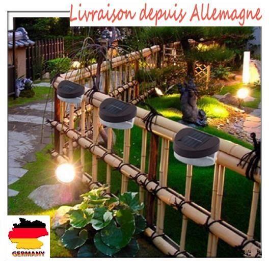 6pcs 2LED Lampe solaire Clôture pour jardin extérieur lumineuse mur ...