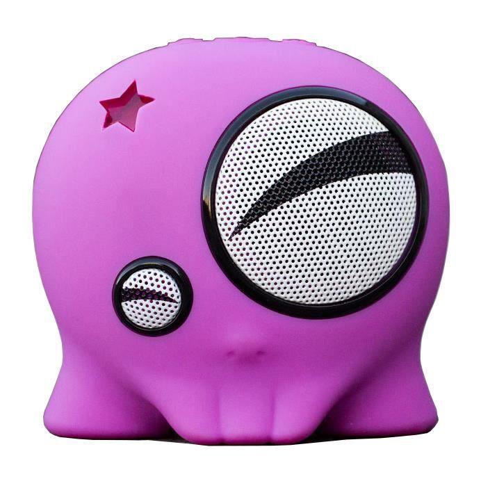 Enceinte Portable Nomade Sans Fil Bluetooth Boombotix Matière Antichoc Anti Éclaboussure Verte Rose