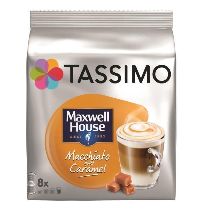 CAFÉ - CHICORÉE TASSIMO Café Maxwell house macchiato caramel - 5x