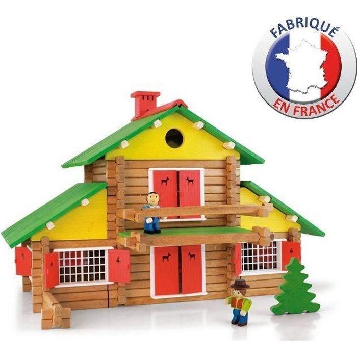 jeux de construction de maison en bois achat vente jeux et jouets pas chers. Black Bedroom Furniture Sets. Home Design Ideas