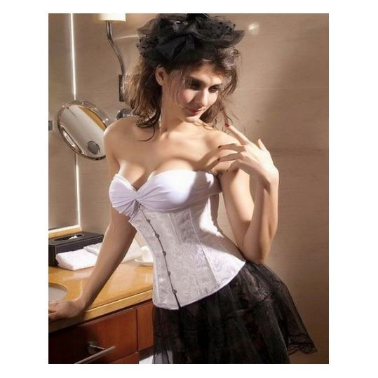 Corset  P tite lady  Serre-taill… Blanc - Achat   Vente bustier ... b5cc2593bfd