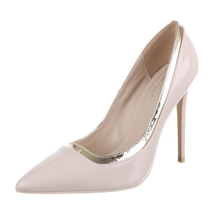 Chaussures femmes Escarpins Talon haut classique Beige