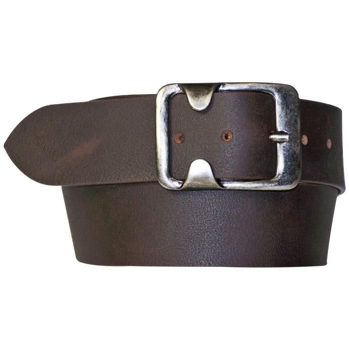 ceinture large de 4 5 cm ceinture marron fonc e large ceinture pour femme et homme boucle. Black Bedroom Furniture Sets. Home Design Ideas