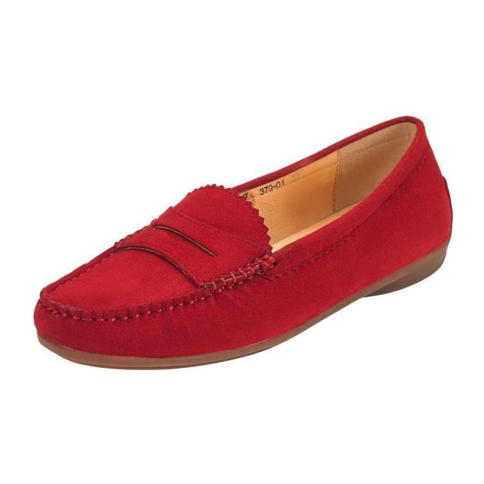 Mocassins Penny Suede pour les femmes: cuir végétalien Slip-on conduite confortable Mocassins Flats IH6LR Taille-37 1-2