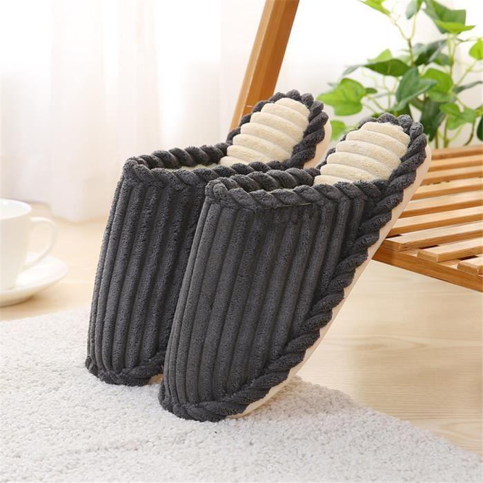 Pantoufles Hoemmes Hiver Chaussures Maison Meilleure Qualité Chausson Homme Pour L'Hiver Chaussures intérieur Grande Taille uVbH5dKq2