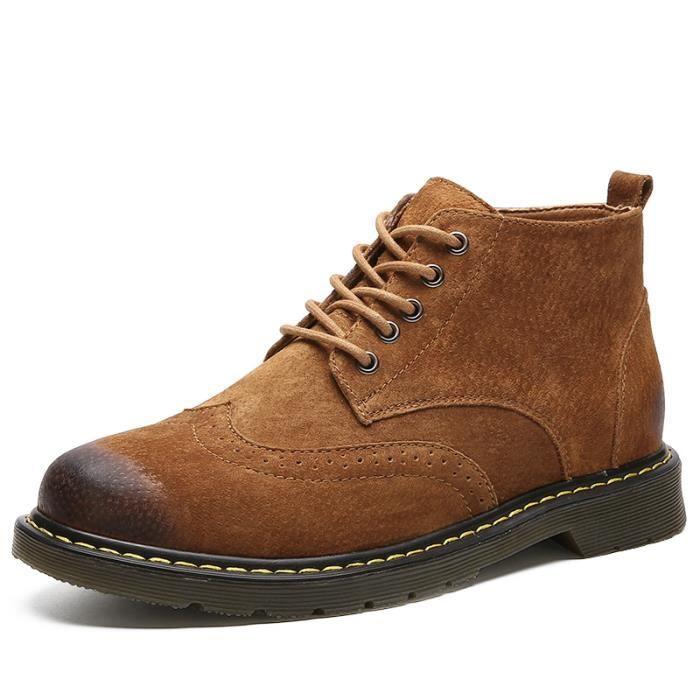 JOZSI Bottine Homme Comfortable Classique Chaussure Hommes ZX-XZ218Marron39