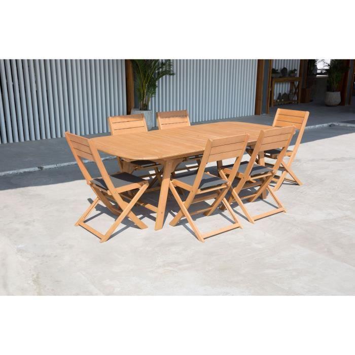 SALON DE JARDIN  Ensemble de mobilier de jardin 6 places - 1 table