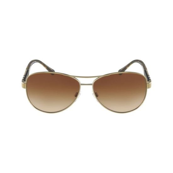35018c81fe141d Lunettes de soleil Burberry BE3080 -1145-13 Or - Beige Or, Beige - Achat    Vente lunettes de soleil Homme - Cdiscount