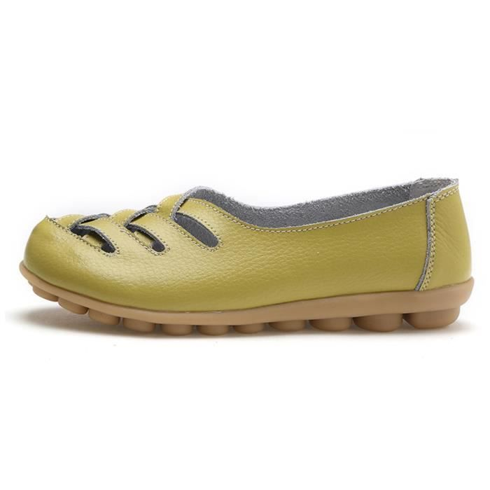 Confort de marche Casual Flat Mocassins E3U8P Taille-40