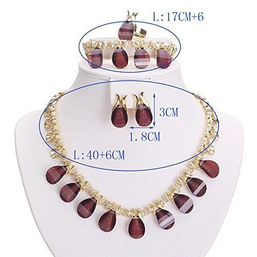 Womens Mysterious Me Crystal And Cubic Zirconia Studded 18k Yellow Gold Plated Alloy Jewellery Set UWZRZ