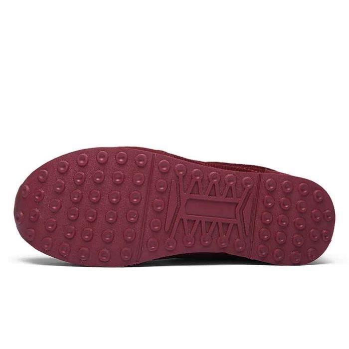 De love5747 ge Velours Femmes Chaussures Moyen Coton Plus Chaud Plates Course AIPf4qfwn