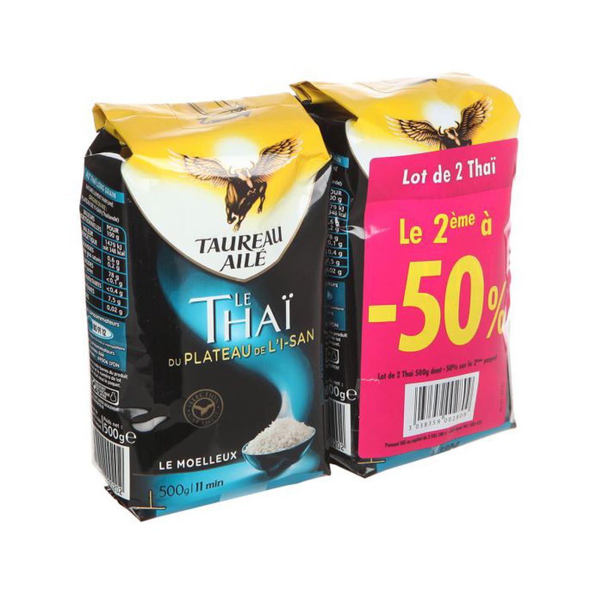 a1d5cf6ec44 TAUREAU AILE Riz Thai 2x500g - Achat   Vente riz TAUREAU AILE Riz ...