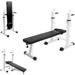 BANC DE MUSCULATION ISE Banc de Musculation Pliable Réglable avec Supp