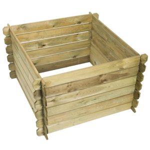 COMPOSTEUR - ACCESSOIRE Compostage Nature bac a compost en bois 650 L 6070