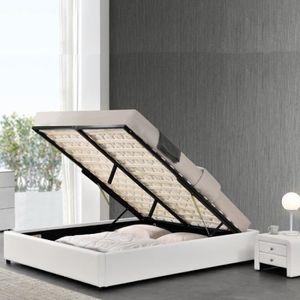 STRUCTURE DE LIT Sommier coffre de rangement Room - 140x190 - Blanc