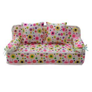 MAISON POUPÉE Mobilier-Sofa Pour Poupée Barbie Canapés Miniature