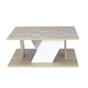 TABLE BASSE BALTIC Table basse carrée scandinave décor chêne e