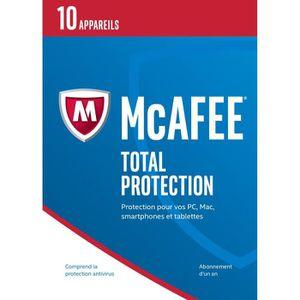 ANTIVIRUS À TELECHARGER McAfee® Total Protection 10 appareils