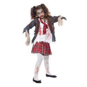 9d3f5510934b26 DÉGUISEMENT - PANOPLIE Costume Ecoliere Zombie Fille M 7 9ans Deguisement
