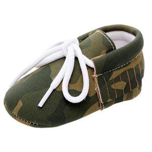 BOTTE Bébé Fille Garçons Camouflage Frenulum Mode Chaussures Sneaker Anti-dérapant Chaussures Douces@Jaune jXOckL