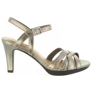 Sandales pour Femme CLARKS 26133574 ADRIEL PEWTER LEATHER 0JOJbFZH