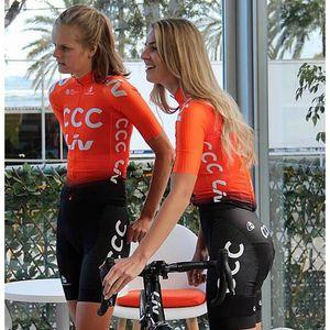 MAILLOT DE CYCLISME Maillot de Vélo Manches Courtes CCC Femme et Cuiss