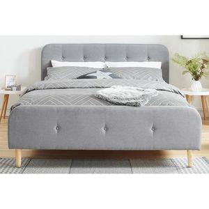 lit scandinave 160x200 achat vente lit scandinave 160x200 pas cher soldes d s le 10. Black Bedroom Furniture Sets. Home Design Ideas