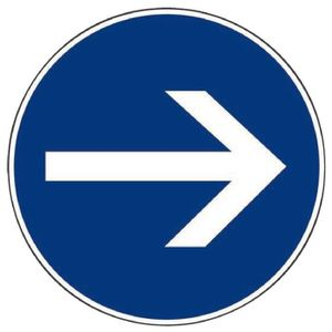 CONE - RUBAN CHANTIER Panneaux de signalisation ronds Outibat Sens oblig