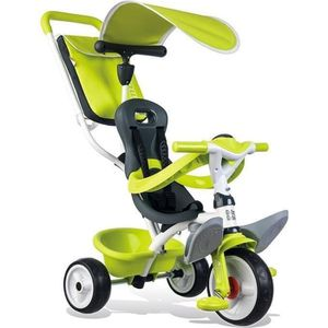 TRICYCLE SMOBY Tricycle Baby Balade Roues Silencieuses Vert