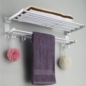 PORTE SERVIETTE TEMPSA Porte-serviette 5 crochet Double Etagère en