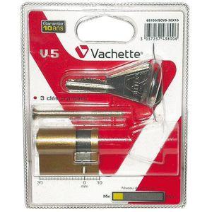 SERRURE - BARILLET Cylindre de sureté simple V5 Vachette Dim.30x10mm