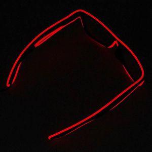 4ad759275615d6 LUNETTES DE SOLEIL Lunettes de fil El LED illuminent lueur lunettes d