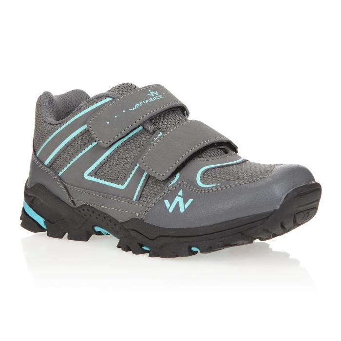 1ER PRIX Chaussures de randonnée Hike 100 Low - Enfant Mixte - Gris et bleuCHAUSSURES DE RANDONNEE