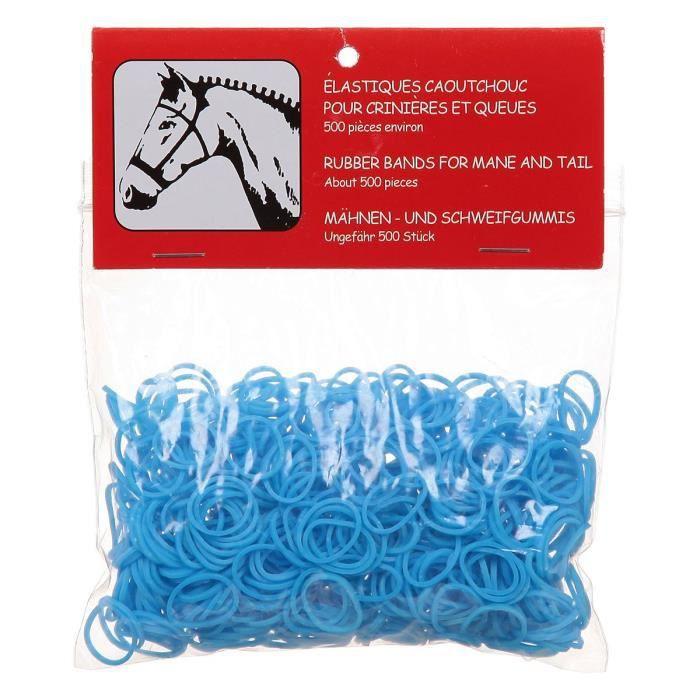 Élastiques à crinière pour cheval - Bleu