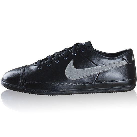 nike baskets cuir flash leather homme noir et gris achat vente basket 3606504163455 cdiscount. Black Bedroom Furniture Sets. Home Design Ideas