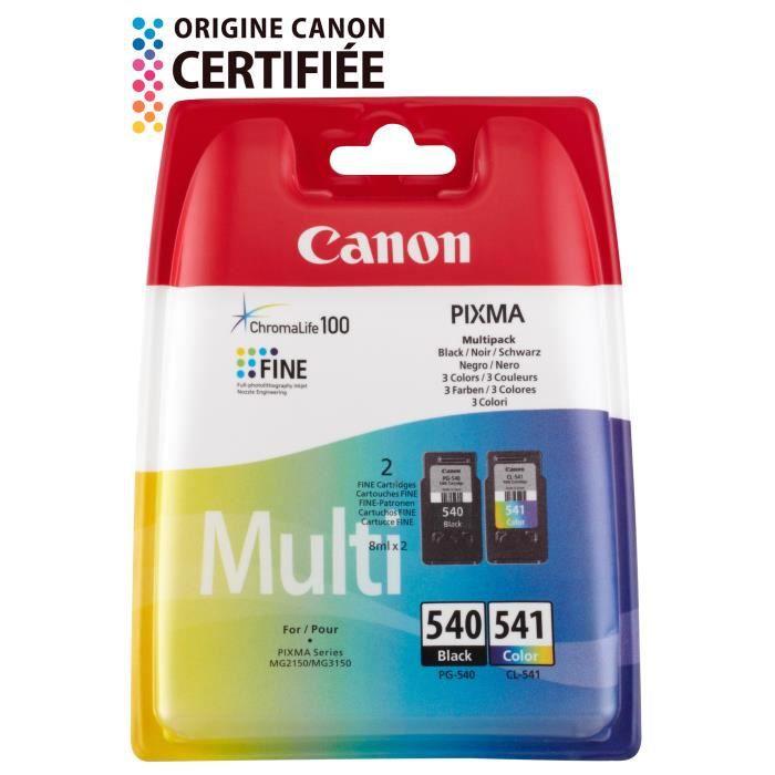 Canon Pack de 2 Cartouches PG-540 / CL-541 - Noir + Couleur