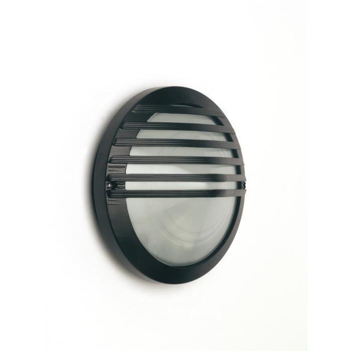 Applique murale extérieure - Indice de protection 44 - Coloris : noir - - 1 Ampoule requise : Culot E27 - Puissance maxi 60W - non fournie - Voir nos propositions d'ampoules ci-dessousAPPLIQUE EXTERIEURE