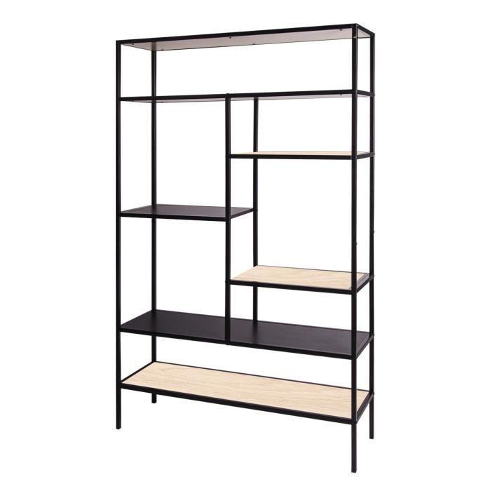 MINSK Bibliothèque - En métal - L 110 x P 35 x H 170 cm