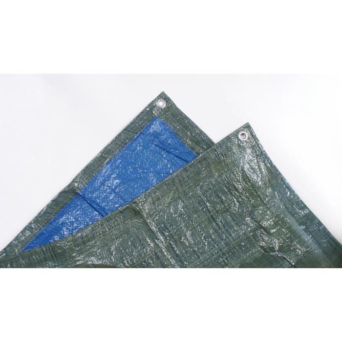 TECHIT 890600 Bâche légère spéciale stère de bois 68g/m² - 1,5 x 6m - Bleu/Vert