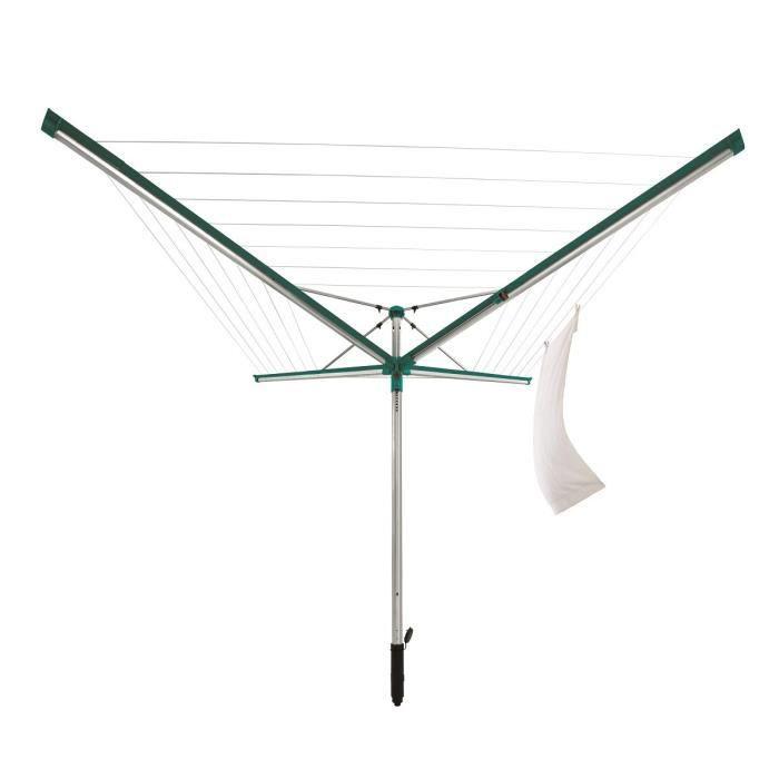 LEIFHEIT Séchoir à linge rotatif Linomatic 400 Deluxe - L 1,86 m - Vert