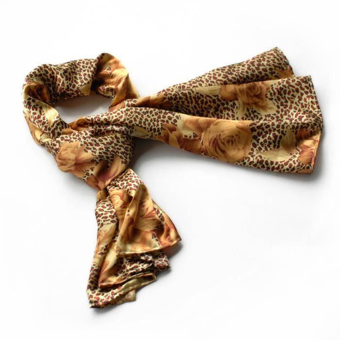 Brando or léopard et rose motif floral écharpe super doux élégant ... 620151793c3