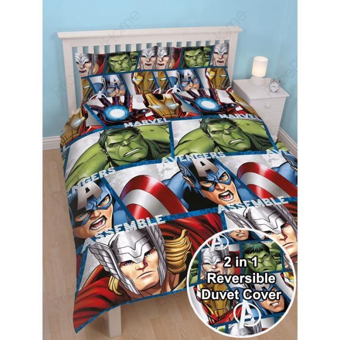 Marvel Avengers Super Heros De Couette Double Avec Housse De Couette