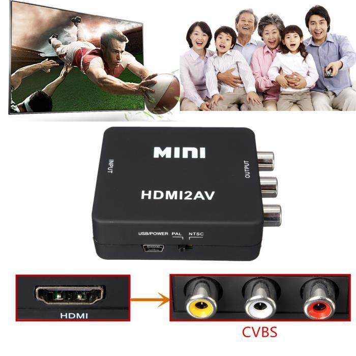 REPARTITEUR TV HDMI vers AV Composite RCA CVBS  vidéo audio adapt
