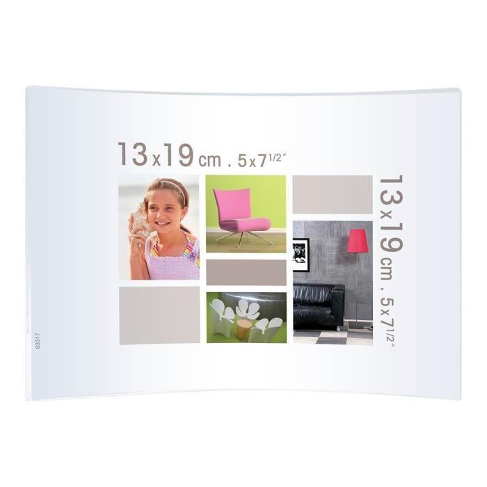 CADRE PHOTO Cadre photo courbe cristal Jim 13x19 cm - Ceanothe