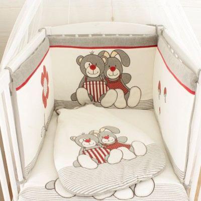 tour de lit bébé et gigoteuse assortie 3 pièces Nez Rouge   Achat / Vente tour de lit bébé 3760108740006  tour de lit bébé et gigoteuse assortie