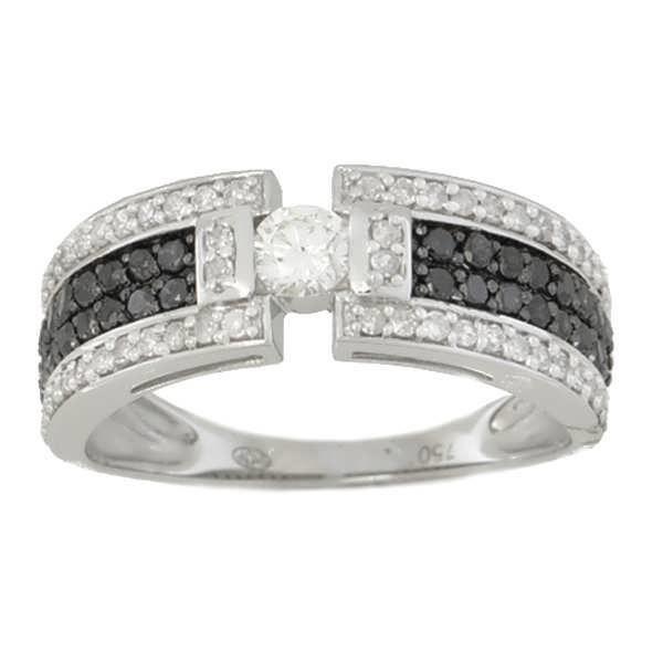 Bien-aimé Bague Diamant noir Or:3.54 Gr Diamant:0.75 Ct Blanc - Achat  ZK28