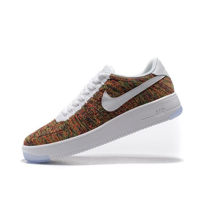 huge selection of 04e74 6d78a BASKET Nike Air Force 1 Flyknit Basse Baskets Chaussures