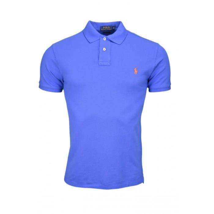 Polo Ralph Lauren basique 2 boutons pour homme Bleu Bleu - Achat ... 93e0b94bd97