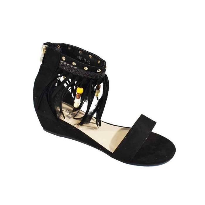 AVIFIA Sandale nu pied métal femme